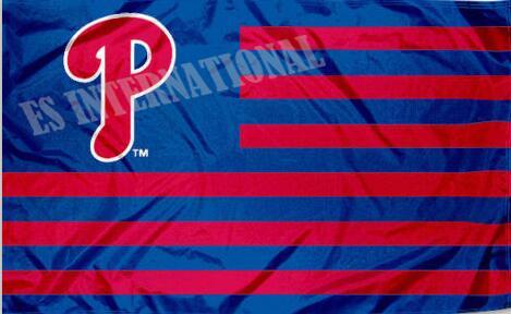 Philadelphia Phillies Flag With No Stars Stripes MLB Flag 3x5 ft custom Banner 90x150cm Sport flag Stainless Steel GrommetsES469(China (Mainland))