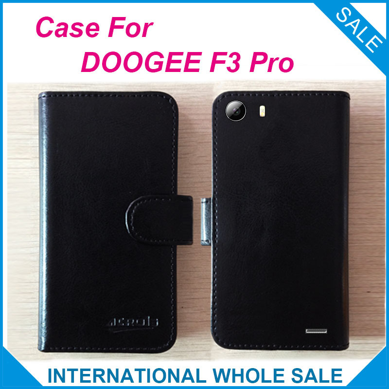 Hot! F3 Pro Case DOOGEE Phone New 2016 items Factory Price Leather Exclusive Cover 4G tracking number - lin-go's store