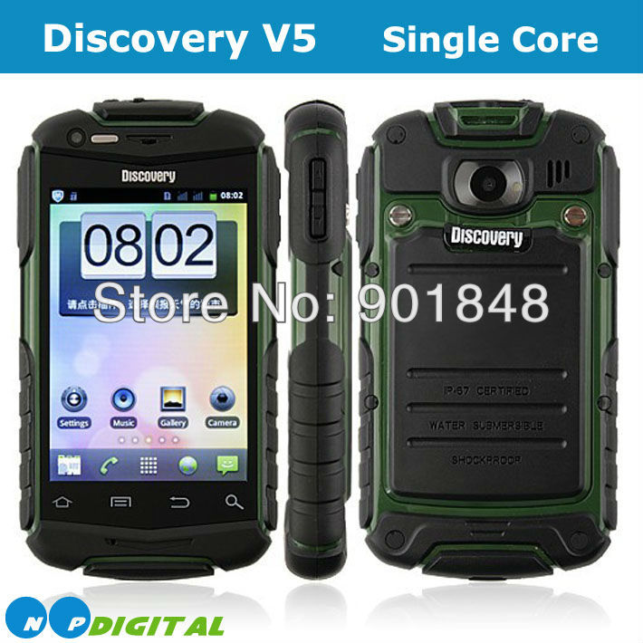 Discovery V5 Android mobile phone Shockproof Dustproof smart cell phone 3.5inch screen Dual SIM Rugged Unlocked mobile phone(China (Mainland))
