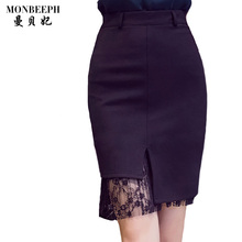 Buy 2017 new Hot sale S-5XL Plus Size Black Pencil Skirt Lace Patchwork Skirts Women Summer irregular Tight Sexy Stretch Mini Skirt for $10.89 in AliExpress store