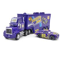 A01-0326 Funny Pixar Cars diecast figure toy Alloy Car Model for kids children Toy race car and Container truck NO.63 2pcs/set