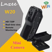 Buy Lnzee W20 Mini Camera WIFI Wireless Camcorder Sport DV Video Camera HD 720P Mini Cam Remote Monitoring Mini DV CMOS Mic Camera for $25.32 in AliExpress store