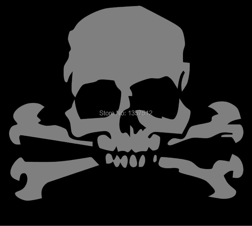 Skull Cross Bones Pirate Car Window Sticker Truck Bumper Funny JDM SUV Door Computer Laptop Motorcycle Helmet Vinyl Decal(China (Mainland))