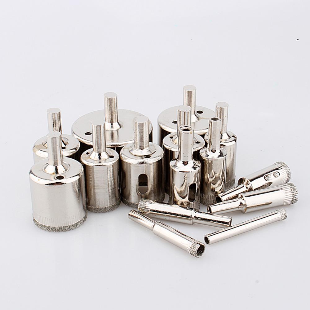 Гаджет  15pcs/set  Diamond Hole Saw 6mm-50mm Tile Ceramic Glass Porcelain Marble Drill Bits  None Инструменты