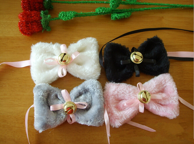 New 2015 1 Pair Fashion Cosplay Party Anime Costume Cat Fox Ears Long Fur Hair Clip(China (Mainland))