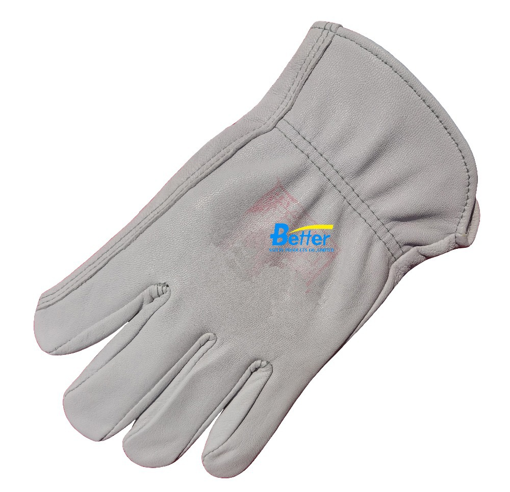 Work Gloves Leather Driver Gloves Deluxe Grain Goat Leather TIG MIG Welding Gloves Leather Work Gloves