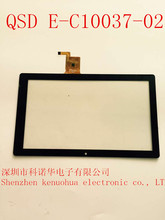 "Brand New Black 10"" inch Tablet PC Capacitive Touch Screen Digitizer QSD E-C10037-02 Free Shipping + Tracking No.(China (Mainland))"