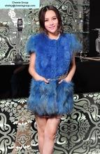 women's fashion design rabbit fur wrap rabbit fur vest, free DHL/Fedex/EMS shipping(CRC0017-12)