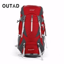Buy OUTAD 60+5L Outdoor Water Resistant Nylon Sport Backpack Hiking Bag Camping Travel Pack Mountaineer Climbing Sightseeing Hike for $55.70 in AliExpress store