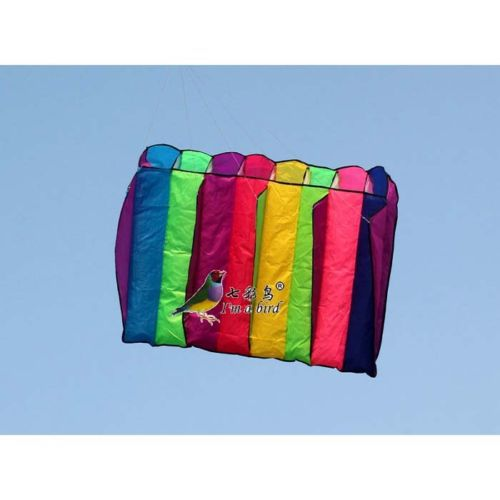 Single line color rainbow power Eight Holes Umbrella NEW kite free shipping(China (Mainland))