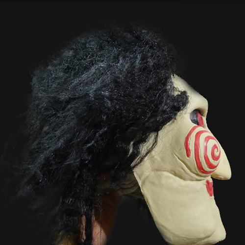 Men's Billy Puppet Face Mask Saw Cosplay Movie Jigsaw Party Masquerade Rubber Latex Masks For Halloween