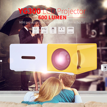 Hot Sale YG300 / YG310 LCD Projector 600LM Home Media Player MINI Projector Video Games TV Home Theat Support HDMI AV SD(China (Mainland))