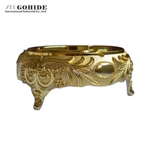 Gohide New Advanced Gold Plated Ashtray Antioxidant Ktv Supplies Home Accessories Cylinder Practical Men's Collection Gift(China (Mainland))