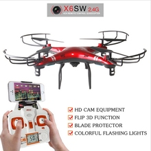 New X6sw 2.4G 6-Axis Quadcopter Drones With Camera HD 0.3MP Outdoor Toys FPV Wifi Professional Drones Best Gift VS X5SW X600