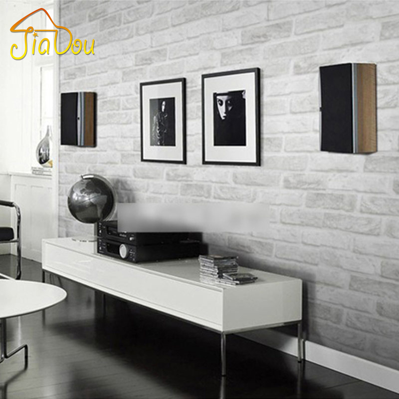 Deep Embossed 3D Brick Wall Paper Modern Vintage Brick Stone Pattern Paper Wallpaper Roll For living room Wall covering Decor(China (Mainland))