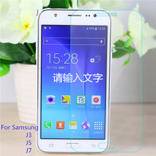 Free Shipping Real Premium Tempered Glass HD Clear 2.5D Screen Protector For Samsung Galaxy J3 J5 J7  Protective Film Guard