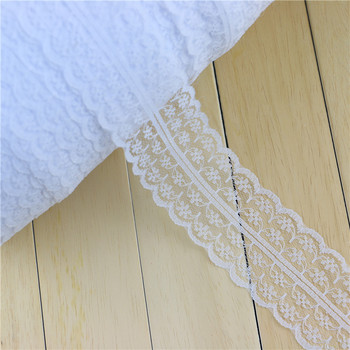 4.5 cm width White Embroidery Mesh Lace Trim 10yards/lot Vintage Lace Trim Cluny Lace embroidered net lace trim ribbon