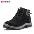 Modyf Mens fall winter Steel Toe Cap work Safety shoes outdoor welding protect boots fashion puncture