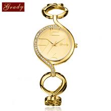Grady women gold bracelet watches 30mm casual watch women fashion luxury quartz watch  free shipping