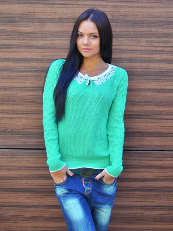 2015 new fashion women winter sweater work wear pullover turn drown collar long sleeve Casual Slim knitted sweater Tops(China (Mainland))