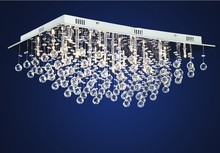 Crystal Ceiling Light with 21 G4 Lights (Chrome Finish),Free Shipping(China (Mainland))