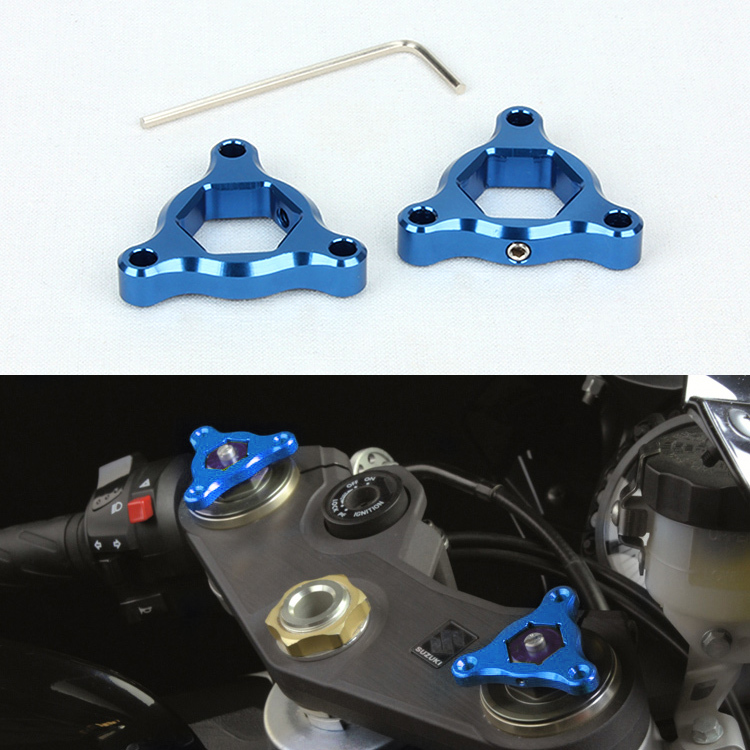 Motorcycle Fork Preload Adjusters For ZX6R 9R 12R Suzuki GSX-R 1100 Yamaha YZF R6 17mm Blue(China (Mainland))