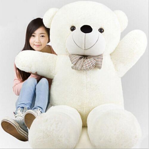 220cm Giant teddy bear plush toys Life size teddy bear stuffed animals Children soft peluches lowest price Christmas gift(China (Mainland))