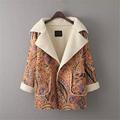 High Quality 2016 Autumn Winter Batwing Sleeve Loose Lamb Wool Coat veste cuir femme chaqueta piel