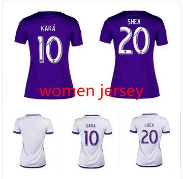 Top new !2015 2016 Women SOCCER JERSEY HOME Away Football Shirt 15 16 Girl Lady Female Collin KAKA JERSEY(China (Mainland))