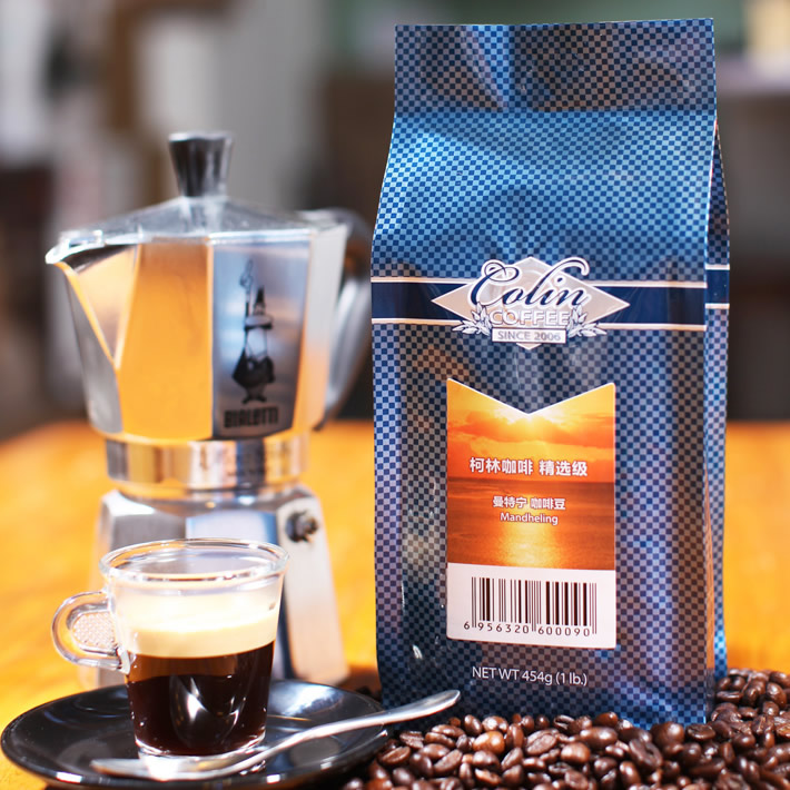 Free shipping 454g Corkin select series coffee beans fresh green slimming coffee beans new 2014 cafe