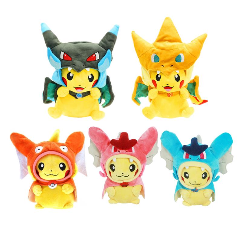 20cm Kawaii Pokemon Pikachu Plush kids Toys Cosplay Mega Charizard PP Cotton Stuffed Animals Dolls Children Toys Christmas Gifts(China (Mainland))