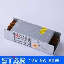 Führte stromversorgung 12v 5a 60w led-treiber switching-netzteil 220v auf 12v beleuchtung transformatoren aluminium nicht- wasserdicht(China (Mainland))