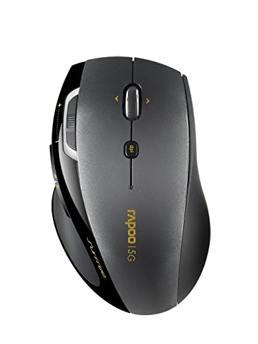 Arion Rapoo 7800P 5G Wireless 1600 DPI Mouse With Laser Engine - Black(China (Mainland))