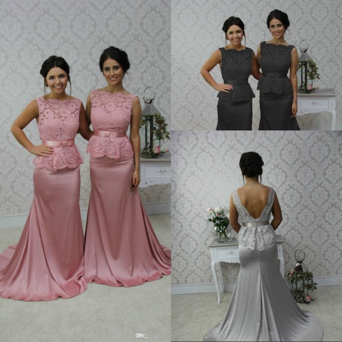 High Quality Pink Grey Bridesmaid Dresses-Buy Cheap Pink Grey ...