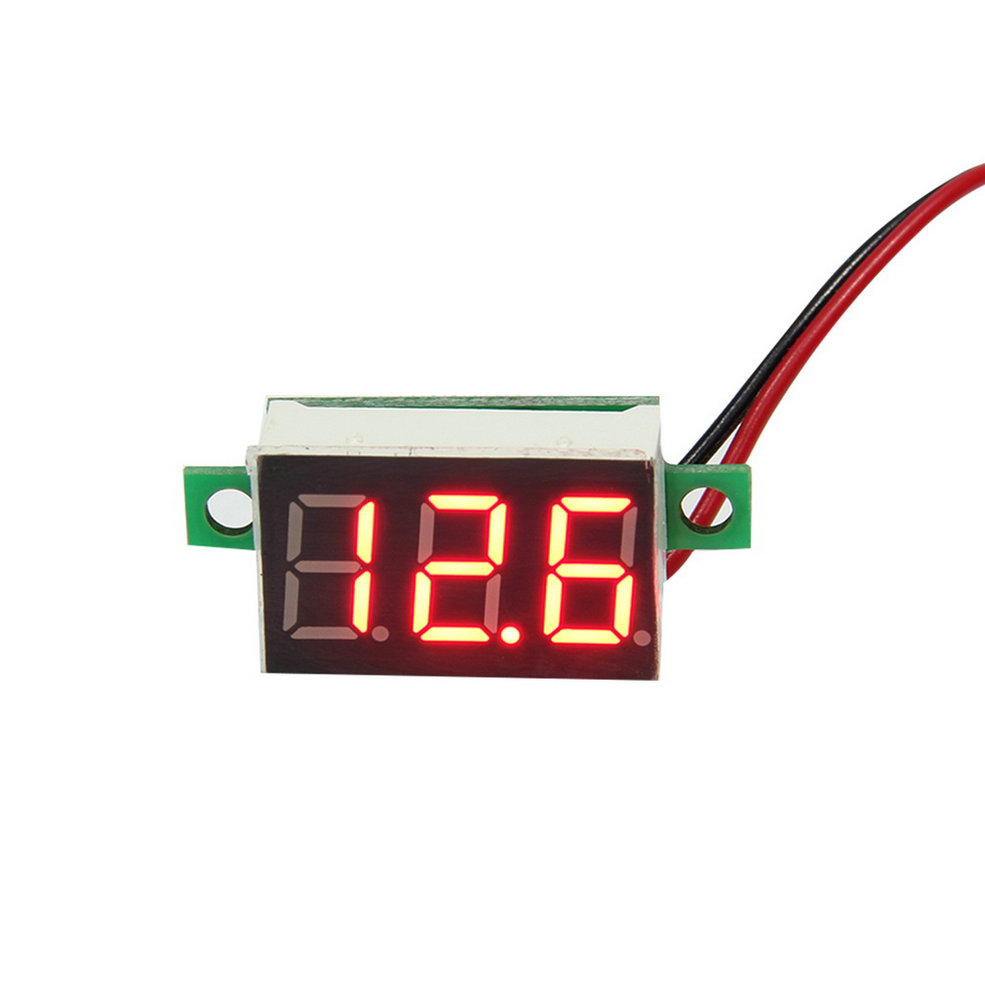 2016 New Mini 1PC LCD 3-Digital digital voltmeter ammeter voltimetro Red LED Amp amperimetro Volt Meter Gauge voltage meter DC(China (Mainland))