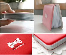 Cute bow 12 bank card pack bag ladies documents card package name business card holder bank