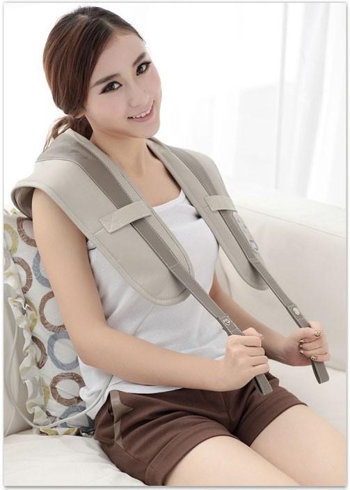 Body pillow massager neck shoulder massage waist shawl neck belt massager back beat percussion free shipping(China (Mainland))