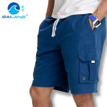 2016 Mens gym running Shorts cargo pocket men Board Shorts solid Sport Quick Dry Boardshorts loose plus Size S- 3XL gailang(China (Mainland))