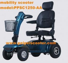 10 inch mobility scooter with four wheels for disabled or elderly people or handicapped instead of walking(Model:PPSC1250-AA)(China (Mainland))