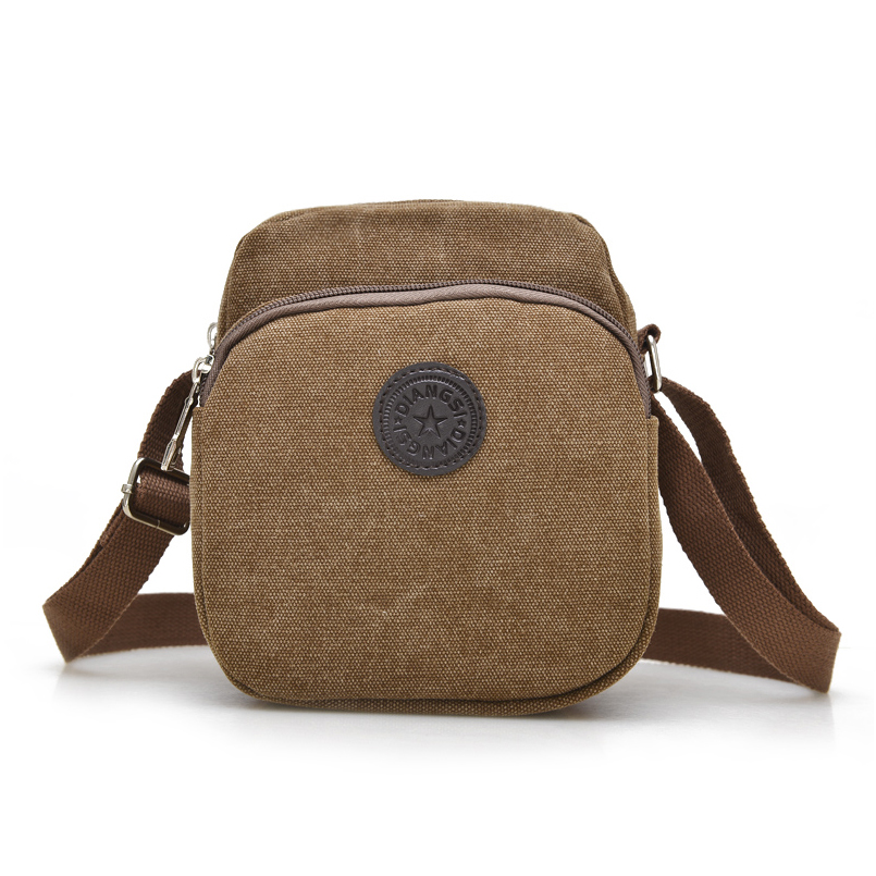 2016 Men Women Shoulder Bag Canvas Small Pocket Money Bag High Quality Material Messenger Outdoor Hiking