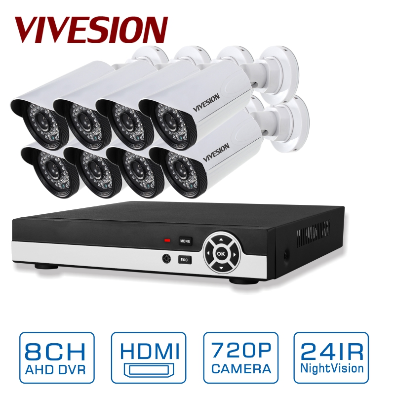 SECULINK 8 Channel 1080N AHD-M/N AHD DVR Recorder CCTV Kit System with 8PCS 1.0MP 720P AHD Security Surveillance Camera(China (Mainland))