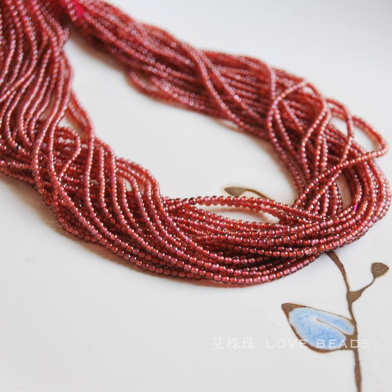 Natural garnet red 2mm 3mm 15 38cm seed beads bracelet for Natural seeds for jewelry making