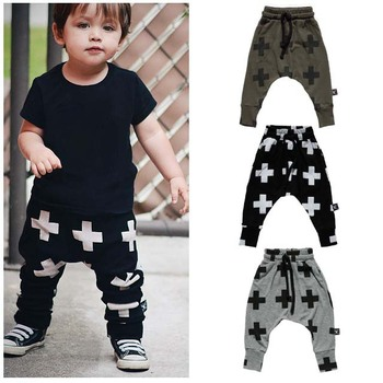 2015 New Fashion Boys Pants Cross Star Children Harem Pants For Girls Boy Toddler Child Trousers Baby Clothes