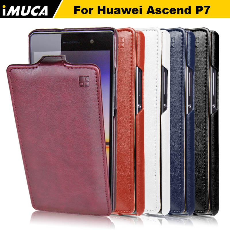 huawei p7 case 100 original leather case for huawei ascend p7 Verticl Flip Cover Mobile Phone
