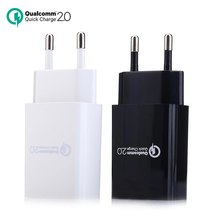 Original Qualcomm Certificated Quick Charge QC2.0 Rapid USB Wall Charger for Samsung Galaxy S6 Xiaomi LG HTC EU / US Free Ship(China (Mainland))