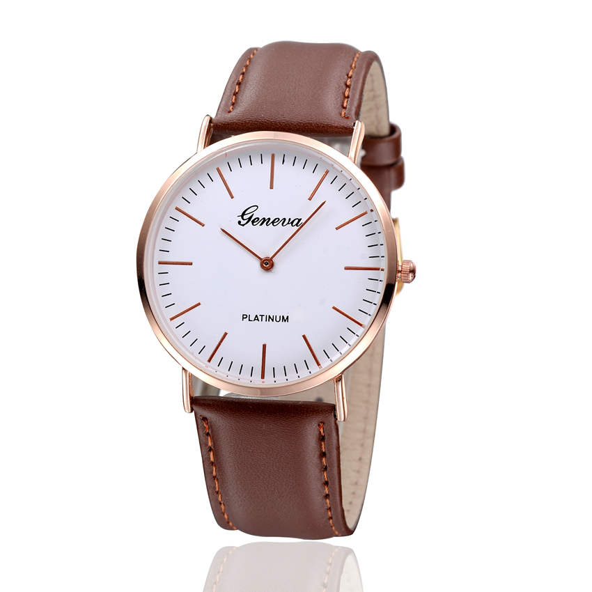 thin platimum gentleman wristwatch casual