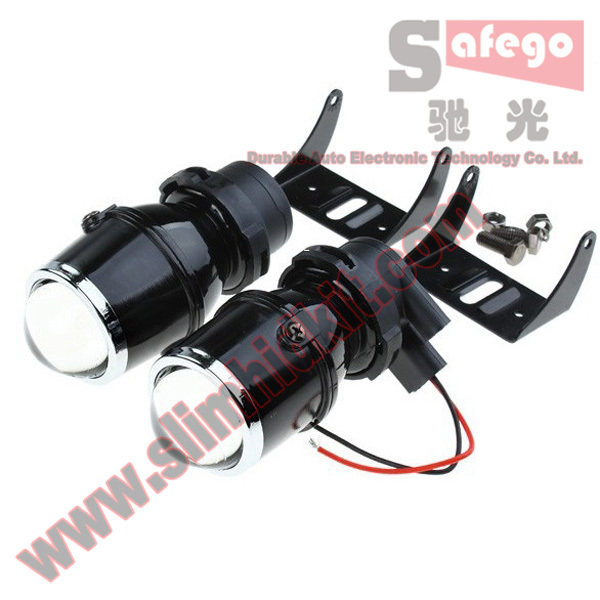 1 pair car styling suit xenon bulb h3 fog HID xenon projector headlight lens Not include bulb Universal HID projector lens(China (Mainland))