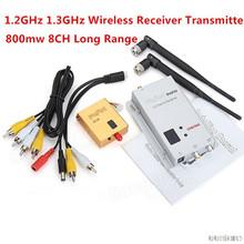 FPV 1.2g 1.2ghz 800mw Digital wireless AV Video/Audio Diagram Transmitter and Receiver combo for Rc ZMR250 QAV280 QAV250 Drone