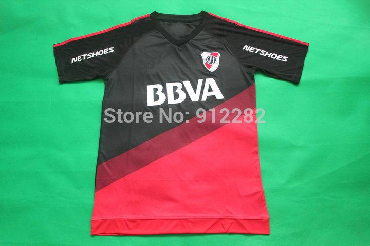 3A+++ thailand quality 2015/16 River Plate home away Black soccer jersey Argentina Club football uniform shirt free shipping(China (Mainland))