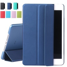 Fashion PU Leather Slim Magnetic Front Smart Cover Skin + Back Hard PC Case For Apple ipad mini 1 / 2 / 3 Auto Sleep Flip Stand(China (Mainland))